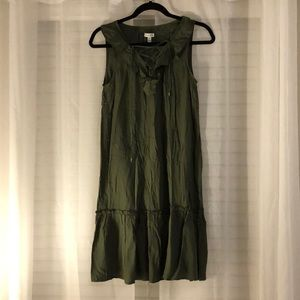 Love fire Olive green sundress